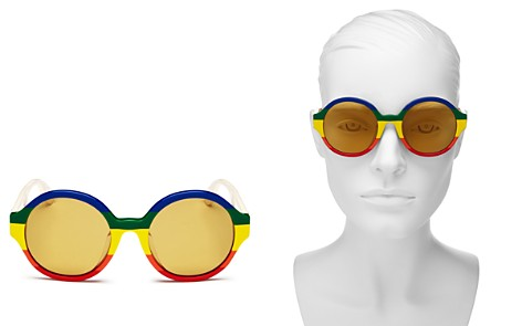 Gucci Women's Rainbow Round Sunglasses, 51mm - Bloomingdale's_2
