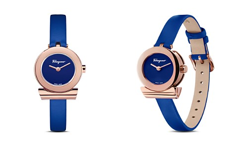 Salvatore Ferragamo Gancino Blue Strap Watch, 22mm - Bloomingdale's_2