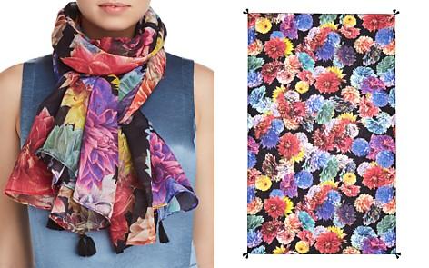 Larioseta Tassel Floral Print Silk Scarf - Bloomingdale's_2