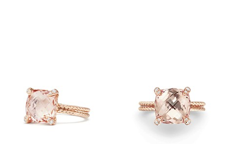 David Yurman Châtelaine Ring with Morganite and Diamonds in 18K Rose Gold - Bloomingdale's_2