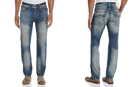 True Religion Geno Straight Slim Jeans in Combat Blue - Bloomingdale's_2