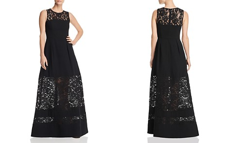 Aidan by Aidan Mattox Lace-Inset Crepe Gown - Bloomingdale's_2