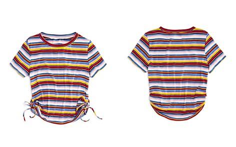AQUA Girls' Striped Side-Tie Tee, Big Kid - 100% Exclusive - Bloomingdale's_2