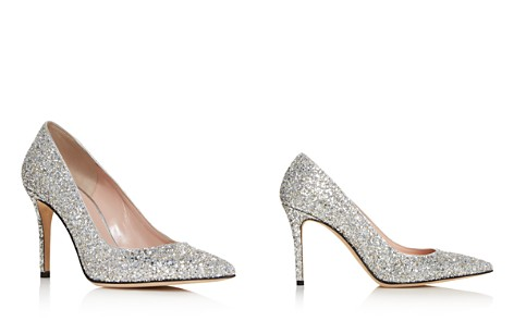 kate spade new york Women's Vivian Pointed Toe Glitter Leather High-Heel Pumps - Bloomingdale's_2