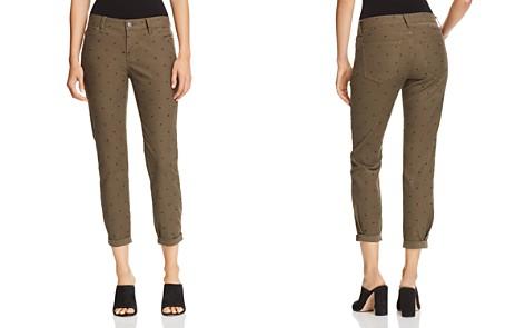 Current/Elliott The Easy Stiletto Cuffed Skinny Jeans in Rural Green Polka Dot - Bloomingdale's_2