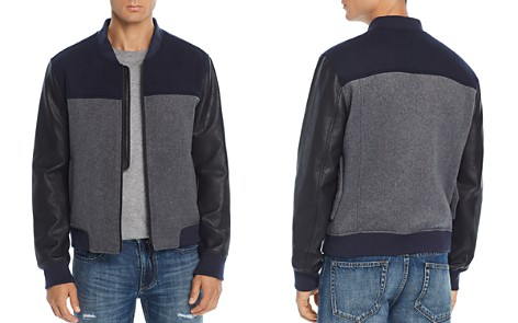 BLANKNYC Mixed-Media Color-Block Bomber Jacket - Bloomingdale's_2