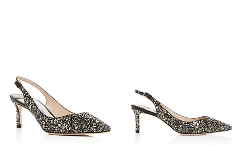 Jimmy Choo Women's Erin 60 Glitter Leather Slingback Pumps - Bloomingdale's_2