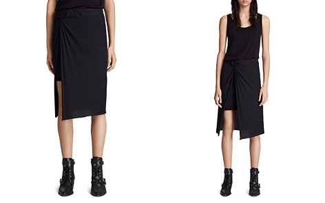 ALLSAINTS Sur Twist-Front Midi Skirt - Bloomingdale's_2