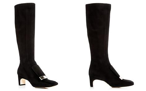 Sergio Rossi Women's Suede Mid-Heel Boots - Bloomingdale's_2