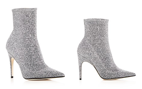 Sergio Rossi Women's Glitter Knit Pointed Toe Booties - Bloomingdale's_2