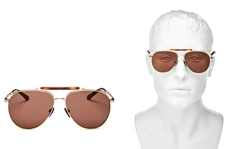 Burberry Men's Brow Bar Aviator Sunglasses, 59mm - Bloomingdale's_2