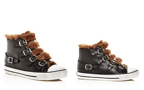 Ash Women's Valko Leather & Faux-Shearling High Top Sneakers - Bloomingdale's_2