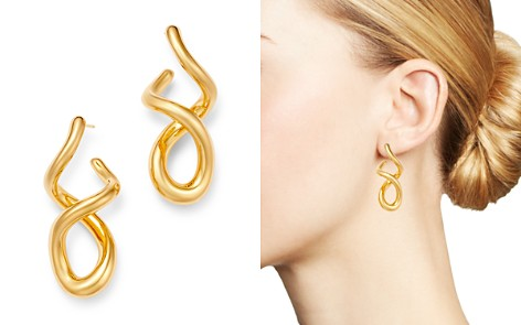 Bloomingdale's Twisted J Hoop Earrings in 14K Yellow Gold - 100% Exclusive_2