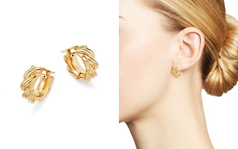 Bloomingdale's Knotted Small Hoop Earrings in 14K Yellow Gold - 100% Exclusive_2