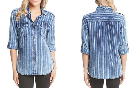 Karen Kane Striped Cotton Roll-Sleeve Shirt - Bloomingdale's_2