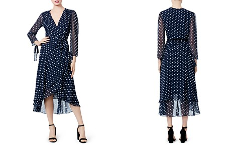 Betsey Johnson Dot Print Wrap Dress - Bloomingdale's_2