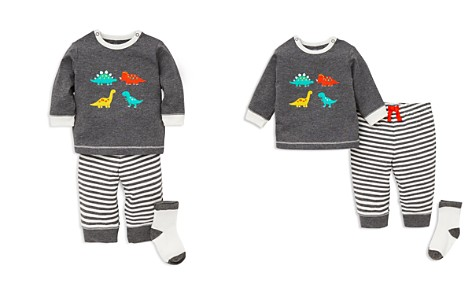 Little Me Boys' Dino Shirt & Jogger Pants Set with Socks - Baby - Bloomingdale's_2