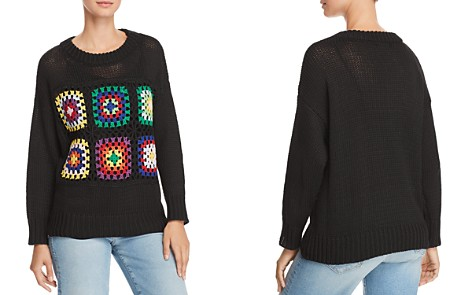 AQUA Crochet-Inset Sweater - 100% Exclusive - Bloomingdale's_2