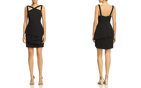 BCBGMAXAZRIA Strap-Detail Crepe Dress - 100% Exclusive - Bloomingdale's_2