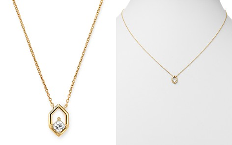 Bloomingdale's Diamond Hexagon Pendant Necklace in 14K Yellow Gold, 0.20 ct. t.w. - 100% Exclusive_2