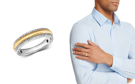 Bloomingdale's Diamond Men's Band Ring in 14K White Gold & 14K Yellow Gold, 0.25 ct. t.w. - 100% Exclusive_2