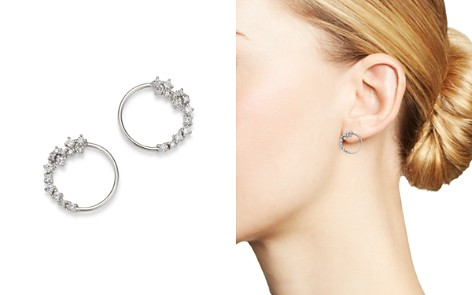 Diamond Circle Earrings in 14K White Gold, 0.33 ct. t.w. - 100% Exclusive - Bloomingdale's_2
