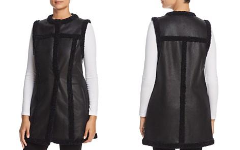NIC+ZOE Drama Long Faux-Leather Vest - Bloomingdale's_2