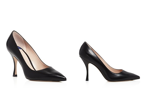 Stuart Weitzman Women's Tippi 95 Pointed Toe Leather High-Heel Pumps - Bloomingdale's_2