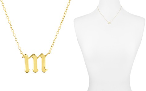 "Argento Vivo Gothic Initial Pendant Necklace, 16"" - Bloomingdale's_2"