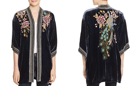 Johnny Was Quito Embroidered Velvet Kimono - Bloomingdale's_2