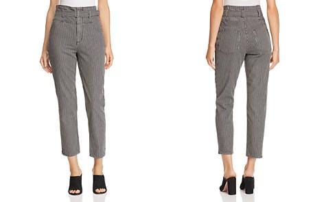 La Vie Rebecca Taylor Striped Straight Jeans in Black - Bloomingdale's_2