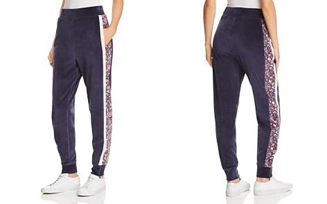 La Vie Rebecca Taylor Side-Stripe Velour Jogger Pants - Bloomingdale's_2