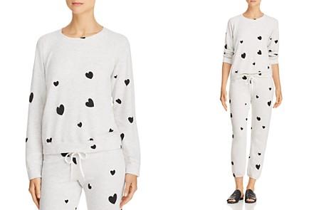 Monrow Heart-Print Sweatshirt - Bloomingdale's_2