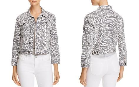 Current/Elliott The Baby Trucker Leopard Print Denim Jacket - Bloomingdale's_2