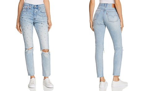 Levi's 501 Embellished Slim Jeans in Counting Stars - Bloomingdale's_2