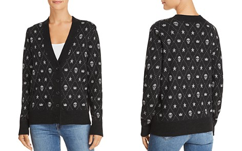 Minnie Rose Skull Intarsia Cashmere Cardigan - Bloomingdale's_2