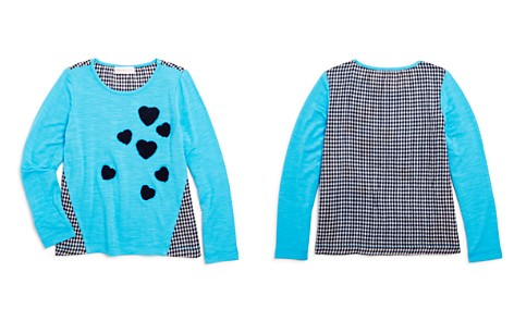 Design History Girls' Contrast Gingham Heart Top - Little Kid - Bloomingdale's_2