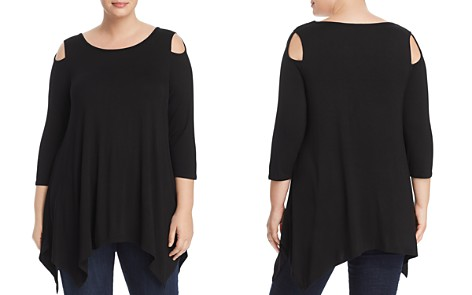 Alison Andrews Plus Cold-Shoulder Tunic - Bloomingdale's_2