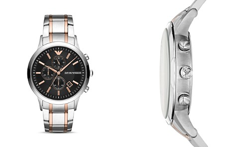 Emporio Armani Two-Tone Stainless Steel Chronograph, 43mm - Bloomingdale's_2