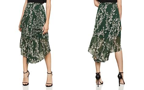 BCBGMAXAZRIA Botanical Print Asymmetric Skirt - Bloomingdale's_2