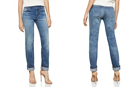 BCBGMAXAZRIA Straight-Leg Boyfriend Jeans in Medium Wash - Bloomingdale's_2