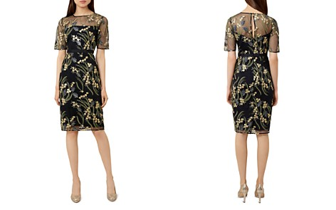 HOBBS LONDON Phoebe Embroidered Illusion Dress - Bloomingdale's_2