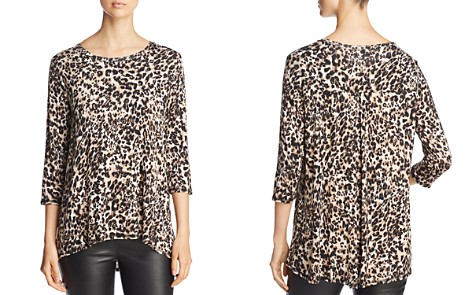 B Collection by Bobeau Three-Quarter Sleeve Leopard Print Top - Bloomingdale's_2