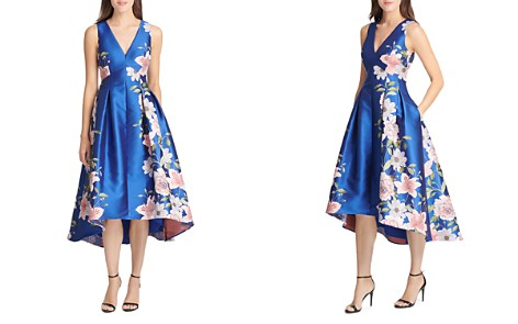 Eliza J High/Low Floral Jacquard Dress - Bloomingdale's_2