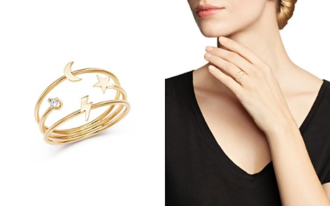 Zoë Chicco 14K Yellow Gold Itty Bitty Lightning Bolt, Moon & Star Diamond Three-Band Ring - Bloomingdale's_2