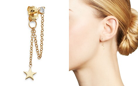 Zoë Chicco 14K Yellow Gold Itty Bitty Star Charm Diamond Drop Stud Earring - Bloomingdale's_2