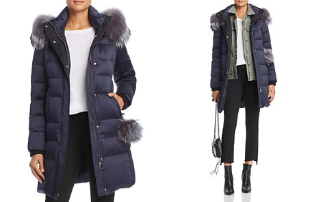 Maximilian Furs Fox Fur Trim Down Coat - 100% Exclusive - Bloomingdale's_2