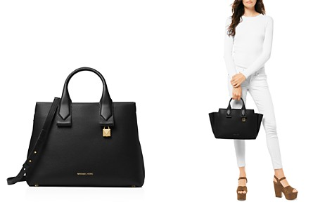MICHAEL Michael Kors Rollins Large Leather Satchel - Bloomingdale's_2