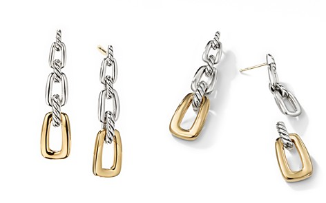 David Yurman Wellesley Link Drop Earrings in Sterling Silver with 18K Yellow Gold - Bloomingdale's_2