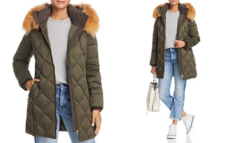 Maximilian Furs Fox Fur Trim Down Coat- 100% Exclusive - Bloomingdale's_2